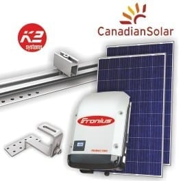 10kw solar pv package all in one fronius and canadian solar. Black Bedroom Furniture Sets. Home Design Ideas