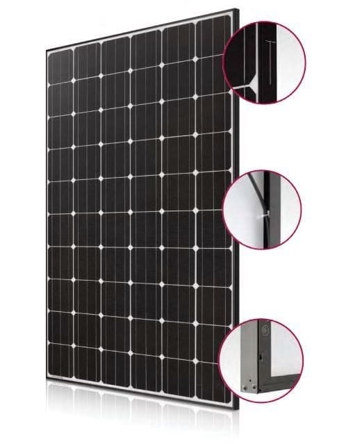 solar panel lg 285w mono x 2 on. Black Bedroom Furniture Sets. Home Design Ideas