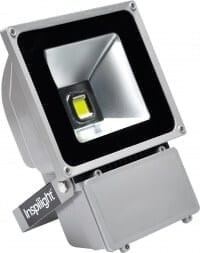 Inspilight Outdoor Strahler LED floodlights, 80 Watt warm white