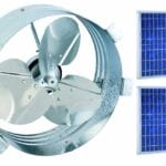 Ultimate Gable Fan with 25w Solar Panel