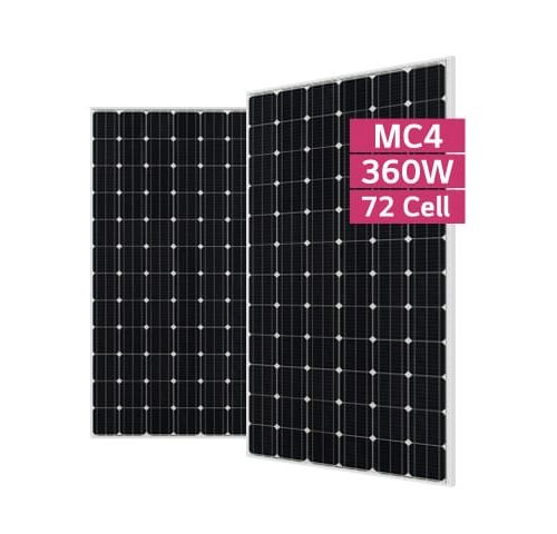 lg neon 360w 72 cell mono solar pv panel on. Black Bedroom Furniture Sets. Home Design Ideas