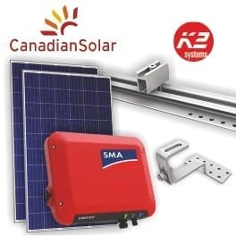 2500W Solar PV Package ALL in ONE SMA and Canadian Solar