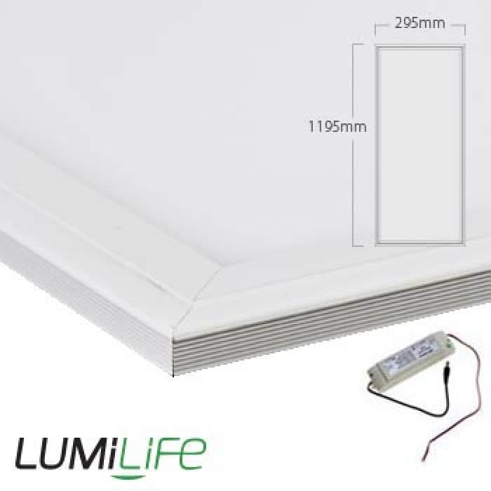 40W LED Panel - 295x1195mm - Cool White - Optional Dimmable Driver and Bracket
