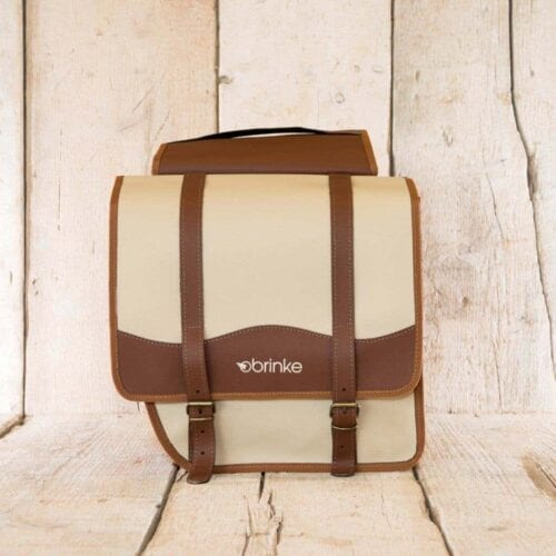 Brinke LONDON rack bag in faux leather brown and cream
