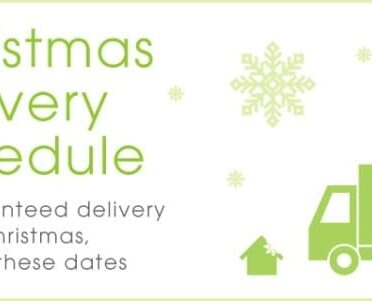 Christmas Delivery Schedule from UK