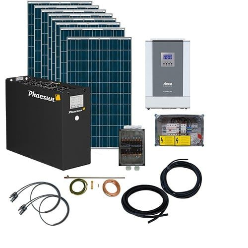 Diy Off Grid Energy Generation Solar Panel Kit Apex 5kw 48v