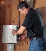 Enphase IQ Combiner-box-installed-inside your home