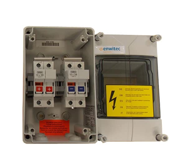 enwitec fuse combiner box for solaredge and 2x lg chem hv