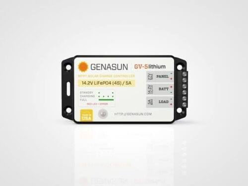 GENASUN GV-5 65W 5A MPPT Solar Charge Controller for Li-Ion Battery