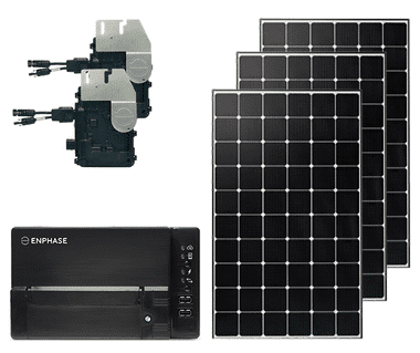 Grid Tied 1.2kW DIY solar kit with Enphase IQ+ Microinverters
