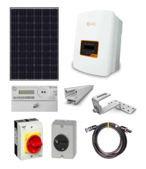Grid Tied All-in-One 4kw DIY Solar Package with Solis and JA Solar
