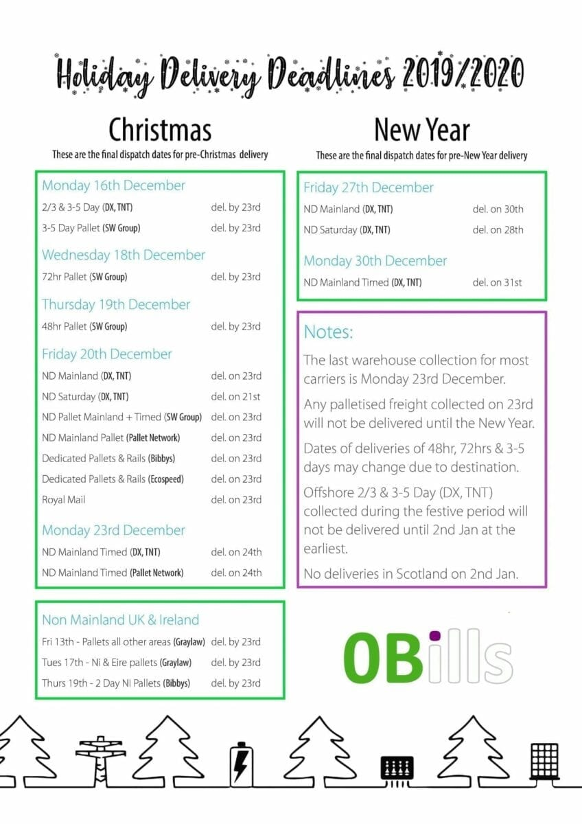 Holiday Deliveries 2019 20 UK 0b