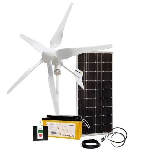 Energy Generation Hybrid Kit Solar Wind One 1.0 100W/400W/12V