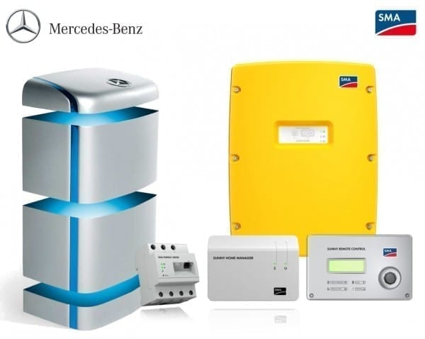Mercedes Benz Home Energy Storage 5 Kwh System With Sma Sunny