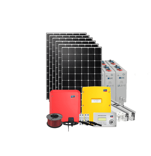Hybrid 5kW solar kit with battery storage w. SMA and IBC solar panels