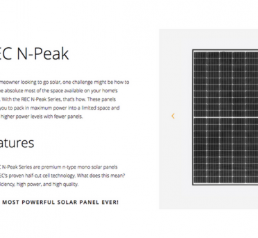 REC N-Peak Series Solar Panels WORLD-CLASS PERFORMANCE