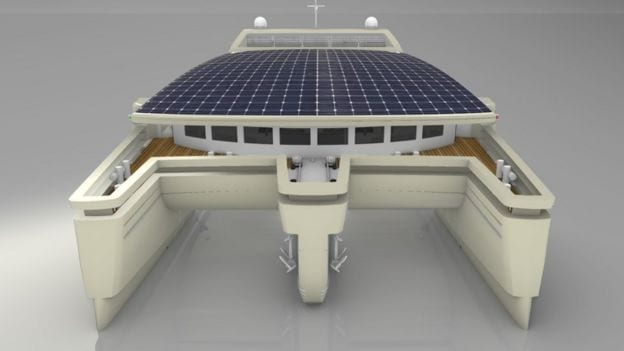 Solar panel powered water taxi ferry UK