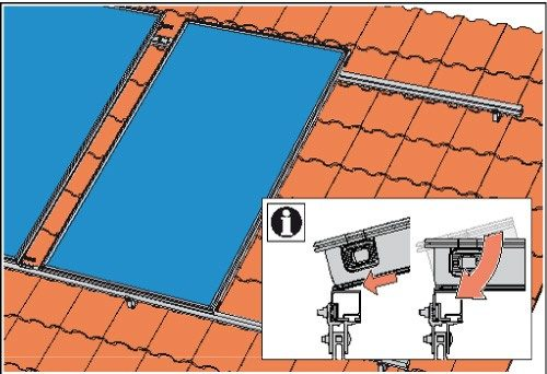 Solfex FK 250P On-roof solar thermal pack - roof hook mount