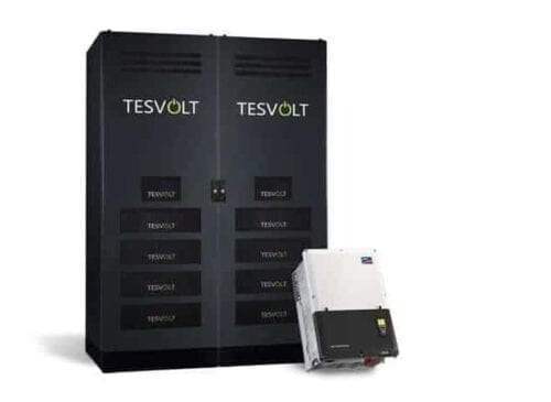 TESVOLT TS 350 HV High Voltage 336kWh Battery Storage with SMA