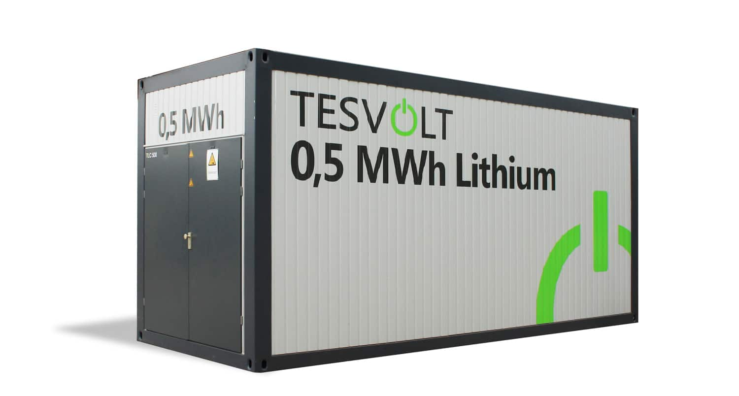 Tesvolt Lithium Battery Storage 500 Kwh Tlc 500 Container