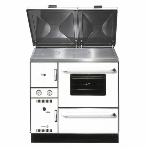 Wamsler 900 Series central heating cooker stove MIX -- USE RIGHT white